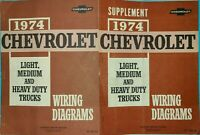 1974 Chevrolet Light Med Heavy Duty Truck Wiring Diagrams Shop Service Manual