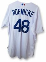 Ron Roenicke Game Used Worn Jersey Dodgers Home White 2015 Playoff #48 JB085240