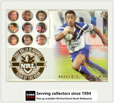 2003 Select NRL XL Trading Cards Team Of The Year TY3 Nigel Vagana (Bulldogs)