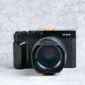 Black Wood Wooden Ebony Handgrip Holder Handle for Fujifilm X-E4 Fuji XE4 Camera