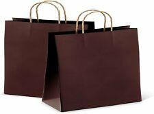 25ct Brown Kraft Paper Bag Party Shopping Gift Bags With Handles 16x6x12