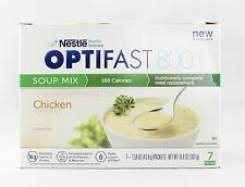 NEW FORMULA | OPTIFAST® 800 MEAL REPLACEMENT SOUP |  Chicken Soup | 6 boxes