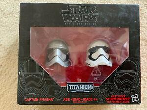 Star Wars Black Series Titanium Captain Phasma and First Order Stormtrooper