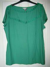 M&S Per Una Green Top Size 16 BNWT