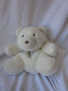 Gund White Washable Bear with zippered rear pocket (DS)
