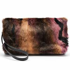 NWT Juicy Couture Textured Leather Clutch Bag - Unique Fur decals