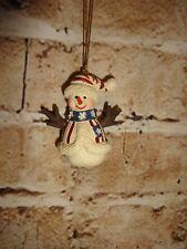 "Snowman Winter USA Flag Patriotic Holiday Christmas Tree Ornament 2.5"""