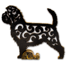 Affenpinscher Dog, dog figurine, dog statue made of wood (Mdf), hand-paint