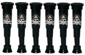 6 Pirate Telescopes - Pinata Toy Loot/Party Bag Fillers Wedding/Kids