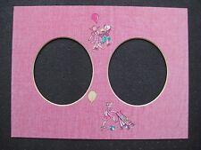 PASSE-PARTOUT pour encadrement rose avectrous ovale 24 x 18 cm