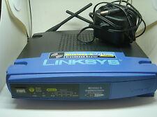 LINKSYS WIRELESS G BROADBAND ROUTER WRT 54 G V8 2.4 Ghz W POWER CORD USED
