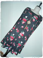 Pinc Black Floral Rose Fit N Flare Skate Dress & Necklace 3X