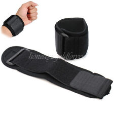 1 Pair Neoprene Wristband Protector Wrist Support Sports Brace Strap Gym Black
