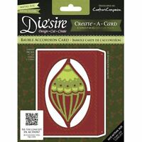 Die'sire Create a Card Christmas Craft Die + Emboss Stencil - Bauble Accordion