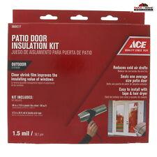 Outdoor Clear Patio Door Insulation Kit ~ New