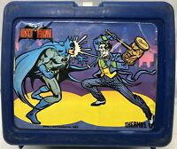 Vintage 1982 DC Comics Batman & Joker Blue Plastic Lunchbox No Thermos