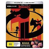 Incredibles 2 (Steelbook) (4K Ultra HD/ 2 Blu-Ray, 2018) (Region B) New Release