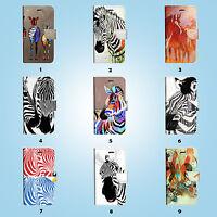Zebra Flip Wallet Case Cover for iPhone SE 6 6S 7 Plus 5 5S 5C 4 4S 010