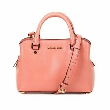 NWT Authentic Michael Kors Savannah Sm. Satchel Leather Handbag 30S6GS7S1A PEACH