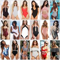 Women Sexy Swimwear One Piece Monokini Push Up Padded Bikini Bathing Swimsuit