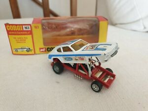 RARE Corgi 163 Ford Capri Santa Pod Glo-Worm Dragster Excellent in original box