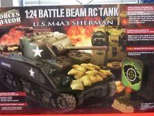 1/24 tanque Carson u.s.m4a4 Sherman tanques RC por control remoto 27mhz banda FM