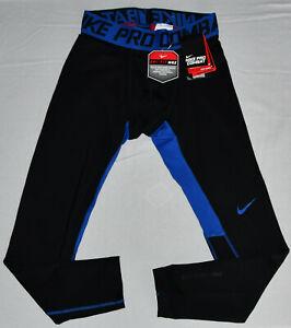 New Nike Men's Dri Fit Max Pro Combat Hyperwarm Compression Tights Large 548187