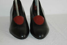 Escarpins DELISE Création Cuir Noir T 37 TTBE