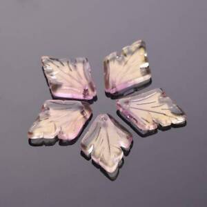 10pcs 25x18mm Leaf Charm Crystal Glass Loose Pendants Beads DIY Jewelry Findings
