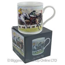 Neuf porcelaine fine horse racing mug/tasse par cachet course saut grand national boîte cadeau