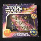 Vintage Star Wars Rebel Alliance Empire Push Pin Collector Set (12) Roseart 1997