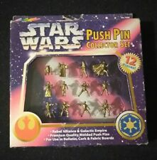 Vintage Star Wars Rebel Alliance Empire Push Pin Collector Set (12) Roseart 1997