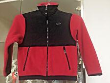 Champion Boys S Fleece Jacket Full Zip Red/Black