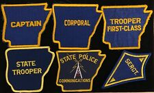 Arkansas AR State Police Highway Patrol Patch SET OF 6 RANK PATCHES