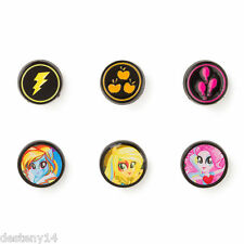 My Little Pony Equestria Girl Button Stud Earrings Rainbow Dash Rocks Applejack