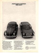 1965 MG SPORTS SEDAN  / VOLKSWAGEN BEETLE  ~  CLASSIC ORIGINAL PRINT AD