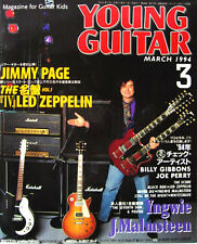 Young Guitar Mar/94 Jimmy Page Live Gear Detail Yngwie Poster Joe Perry Live Gea