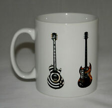 Metal Guitar Mug #2. 5 Metal guitar illustrations.