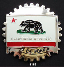 CAR GRILLE EMBLEM BADGES - CALIFORNIA(FLAG)