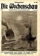 Ein deutsches Tauchboot versenkt englische Handelsdampfer ... 1915
