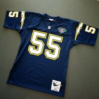 100% Authentic Junior Seau Mitchell & Ness 94 Chargers NFL Jersey Size 40 M Mens