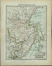 Asiatic Russia Siberia Japan Sea 1882 charming small Dutch old map