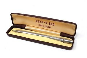 A Mint Vintage C1966 Sterling Silver 925 Yard O Led Working Pencil & Boxed 29979