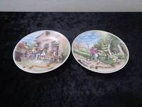 2 X GDR Lichte Design Porcelain Wall Plate - Vintage around 1970/80