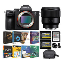 Sony Alpha a7 III Full Frame Mirrorless Camera with 85mm Lens & Accessory Bundle