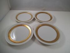 Vintage Royal Jackson Set of 4 Gold Band Stripe Butter Pat Dishes Dish