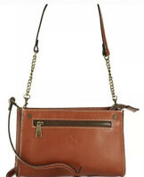 NWT Patricia Nash Bag Turati Tan Crossbody Zip Top Zip Leather P09801 MSRP $149