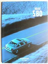 Prospekt Volvo S 80 clean city Limousine, 2001, 48 Seiten, aus Japan,  japanese
