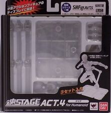 Bandai Tamashii Stage Act.4 for Humanoid Figure Clear Display Stand US Seller