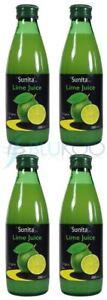 Sunita Organic Lime Juice - 250ml (Pack of 4)